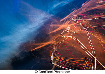 slow motion abstraction on the road. blurred background of...