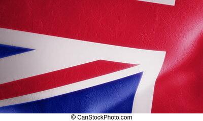 Slow Motion British Flag Intro
