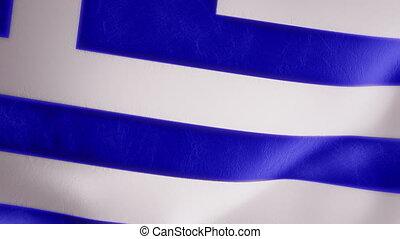 Slow Motion Greek Flag Intro