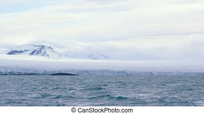 Slow motion of a massive glacier in the arctic - The large...