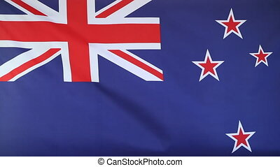 Slow motion of New Zealand flag