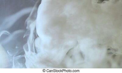 Slow motion of white smoke. Video full hd.