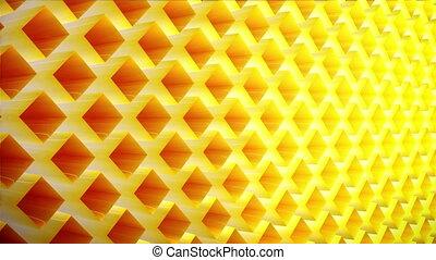 slow motion pattern of elements