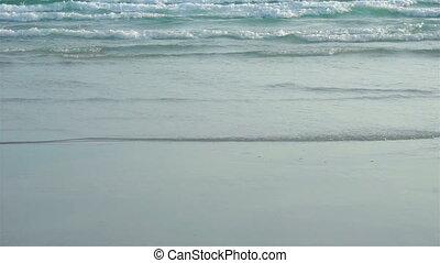 (slow, motion), vague, mer, thaïlande, plage