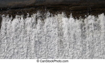 Edge of the waterfall. - Slow motion.Edge of the waterfall....