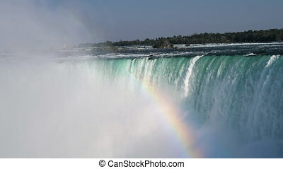 The horse shoe falls at Niagara Falls in Ontario - Slow...