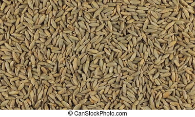 Slow rotation of the heap of rye grains.