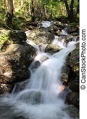 Slow shutter waterfall Scotland