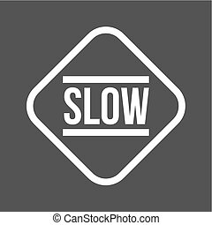 Slow, sign, down icon vector image. Can also be used for ...