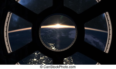 Slow sunrise seen from ISS - Slow sunrise over Earth seen...