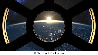 Slow sunset seen from the ISS - Slow sunset over Earth seen...