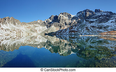 slowakije, meer, berg, tatras