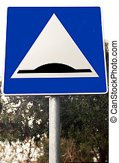 Slowdown obstacle traffic sign