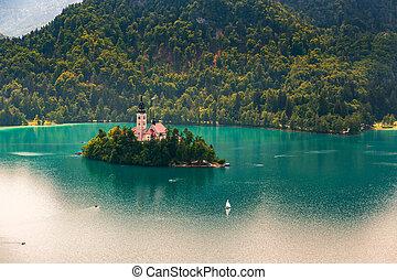 Slowenien, See, sommer, geblutet