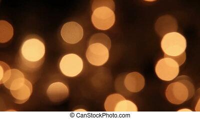 slowly blinking christmas lights bokeh seamless loop background