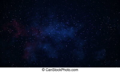 Slowly blinking stars galaxy in space seamless loop