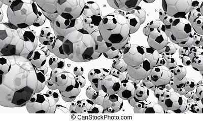 Slowly Falling soccer balls