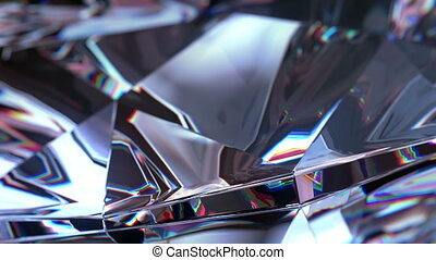 Slowly Rotating Diamond, close up. beautiful 3d animation,...