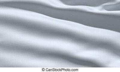Slowly waving white fabric