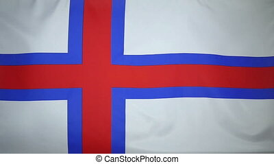 Slowmotion Flag Faroe Islands - Slowmotion of a real textile...