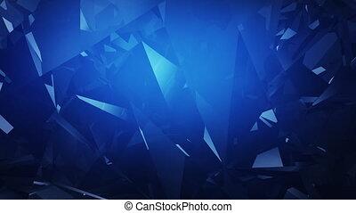slowmotion, luxe, fond, diamant bleu