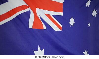 Slowmotion textile Flag Australia