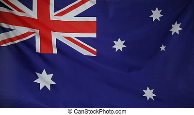Slowmotion textile Flag Australia