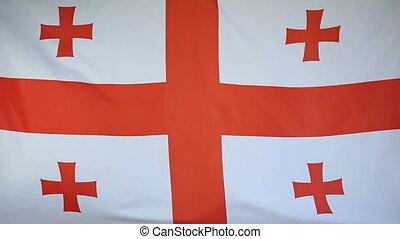 Slowmotion textile Flag Georgia