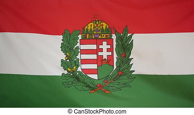 Slowmotion textile Flag Hungary