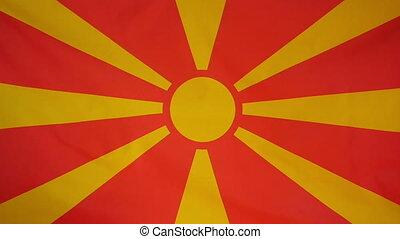 Slowmotion textile Flag Mazedonia