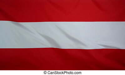 Slowmotion textile Flag of Austria