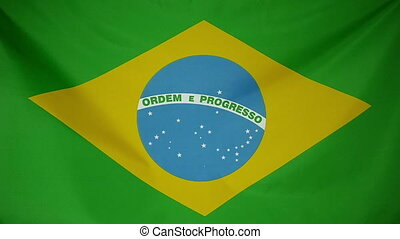 Slowmotion textile Flag of Brazil