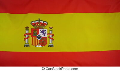 Slowmotion textile Flag of Spain