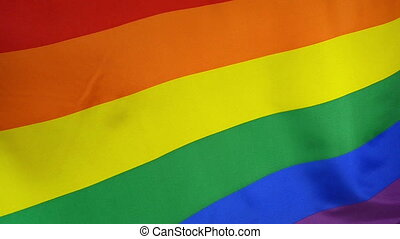 Slowmotion textile Rainbow Flag