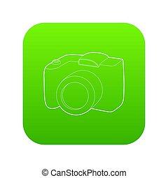 SLR camera icon green