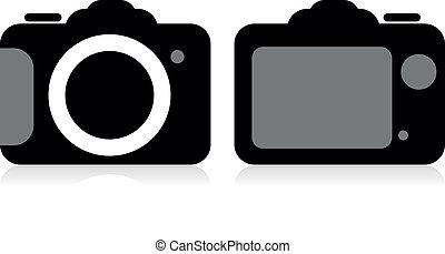 SLR camera, vector