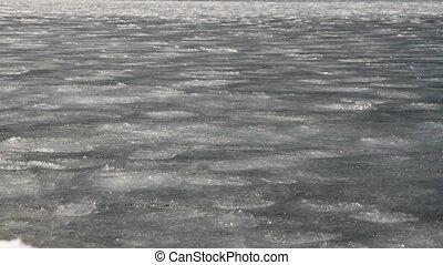sludge - frazil ice on the sea surface