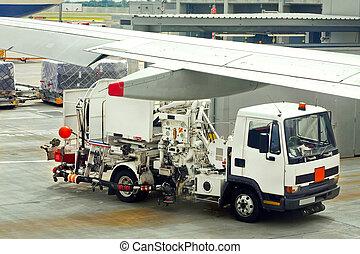 Sludge vacuum truck for sewage water at airport
