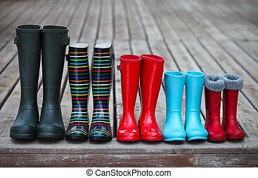 sluha, pářit se, pět, déšť, barvitý