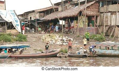 Slum City at Amzon, Southamerica - Slums At Amazon River,...