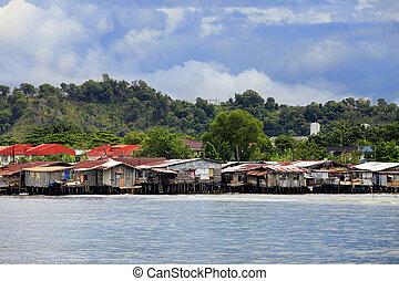 Slum in Borneo