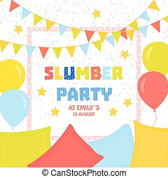 Slumber party poster - Slumber party invitation template...