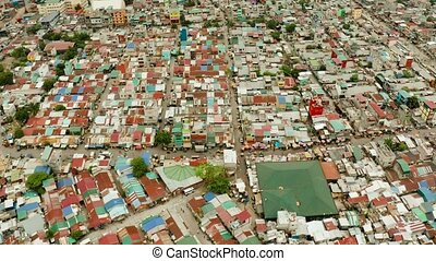 Slums and poor district of the city of Manila. - Poor...