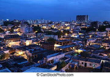 Slums of Hyderabad, India