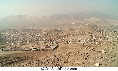 Slums, South America - slums in the desert at the north of...
