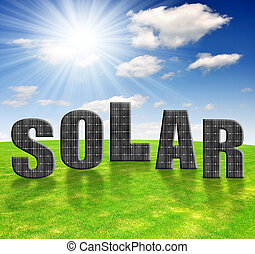 sluneční energie zdobit šaty