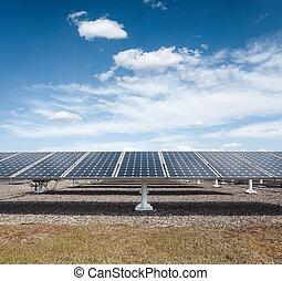sluneční mocnina, na, jeden, oplzlý podnebí