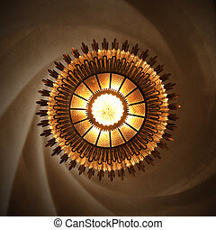 slunit se, lampa, do, casa, batllo, označený, do, gaudi