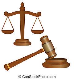 slupka k soudce, a, kladívko