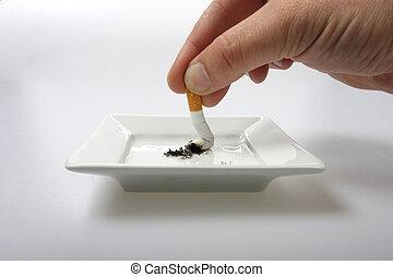 sluta, rökning